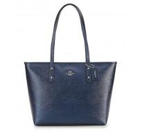 Sac Marque COACH cabas iM/ Metallic bleu