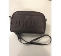 Sac Marque DKNY bandoulière gris taupe