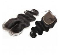 Closure cheveux Rémy  ondulé 100% naturel 14 pouce