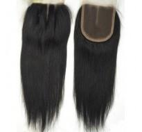 Closure cheveux Rémy lisse  100% naturel 14 pouce