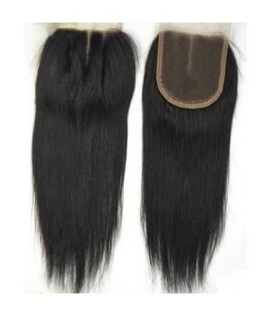 Closure cheveux Rémy lisse 100% naturel 18 pouce