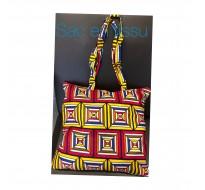 Sac tissu africain avec motifs coloré