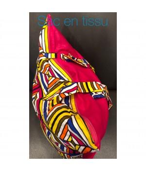 Sac en pagne africain coloré plusieurs temps