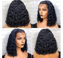 Perruque lace frontal ou dentelle  HD cheveux Virgin bouclés