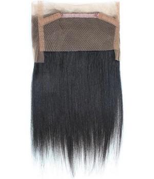 Lace frontal cheveux Virgin lisses