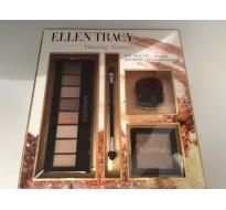 ELLEN TRACY  coffret palettes pour les yeux + pinceau + poudre bronzante